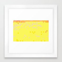 ABSTRACT PIXELS #0014 Framed Art Print