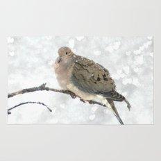 Snowy Winter Dove Rug