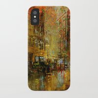 detroit iPhone & iPod Cases featuring An evening in Detroit by Joe Ganech