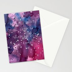 let the beauty you love be what you do Stationery Cards