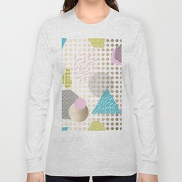 Simply Metallic Memphis Dots Long Sleeve T-shirt