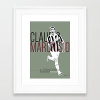 juventus Framed Art Prints featuring Marchisio FC Juventus / Serie A Superstar Football Player by Filippo Maniscalco
