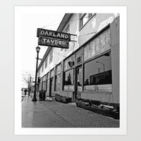 oakland Art Prints featuring Oakland Tavern by Vorona Photography