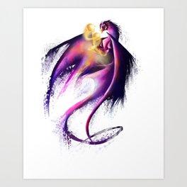 Nebula Dragon Art Print