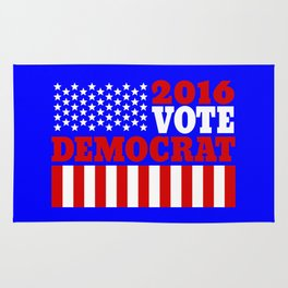 Vote Democrat  Rug