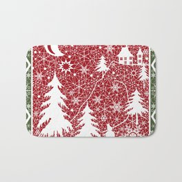 Winter. Christmas. Bath Mat