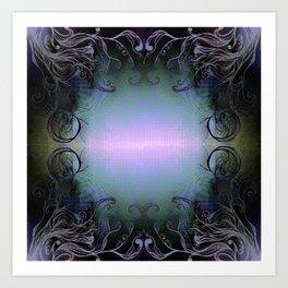 The Glowing Light Mirror Art Print