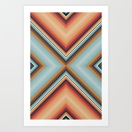 Brothers in Colour Desert Art Print