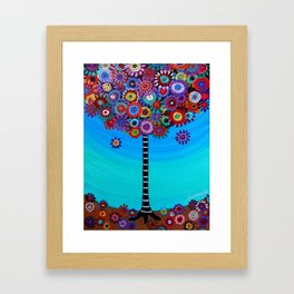 Tree of Life Painting by Pristine Cartera Turkus Framed Art Print