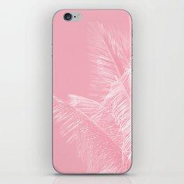 Millennial Pink illumination of Heart White Tropical Palm Hawaii iPhone Skin