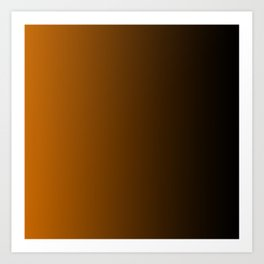 Black and Orange Gradient 050 Art Print