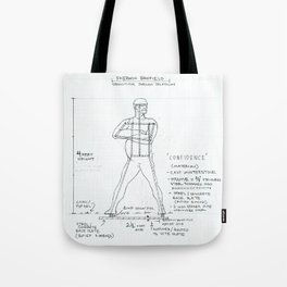 Confidence Drawing, Transitions through Triathlon Tote Bag