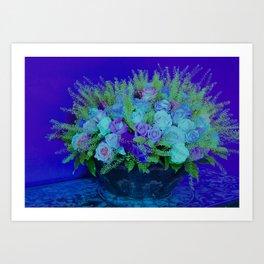 Bouquet-purple Art Print