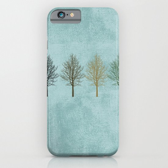 Four Colors Trees iPhone & iPod Case