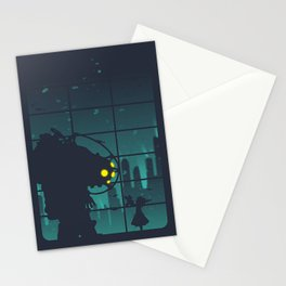 bioshock big daddy Stationery Cards