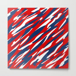 Red, White and Blue Patriotic Pattern Metal Print