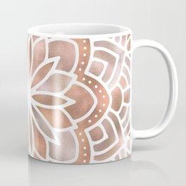 Mandala Rose Gold Flower Coffee Mug