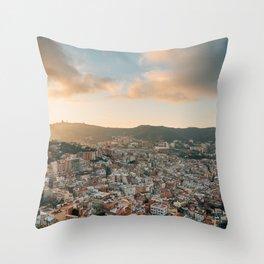Over Barcelona 02 Throw Pillow