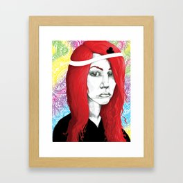 Queen of Clubs Forever Framed Art Print