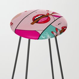 comics Counter Stool