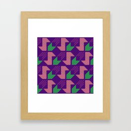 Clover&Nessie_Lavender&Mauve Framed Art Print