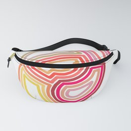 Warm Coloured Shapes Fanny Pack