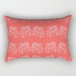 branches red graphic nordic minimal retro Rectangular Pillow