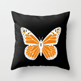 Cute white and orange Butterfly Throw Pillow