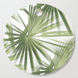Tropical Beach Palm Vector Cutting Board