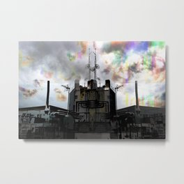 An engine, implacable churn motions, no night rest Metal Print