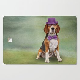 Dog Beagle. A dog in a hat. Cutting Board