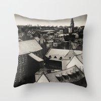 edinburgh Throw Pillows featuring Edinburgh by Carlos Sanchez
