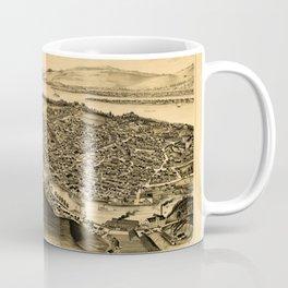 Map Of Catskill 1889 Coffee Mug