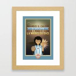 Poster Nostalgica - Maradona Framed Art Print