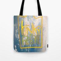 reggae Tote Bags featuring kinky reggae by amy darlene
