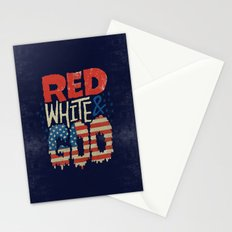 Red, White, & Goo Stationery Cards