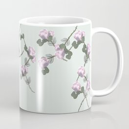 Roses Collage, green,pink, floral, flowers, leaves, botanical, pattern, decor, art, society6 Coffee Mug