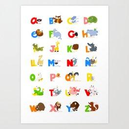 ABC (spanish) Art Print