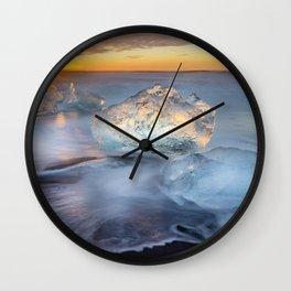 Diamonds in the Sun Iceland Wall Clock