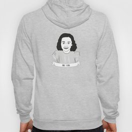 Anne Frank Illustrated Portrait Hoody