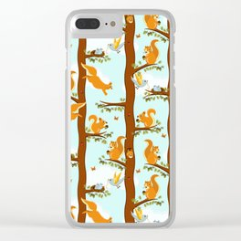 squirrel party Clear iPhone Case