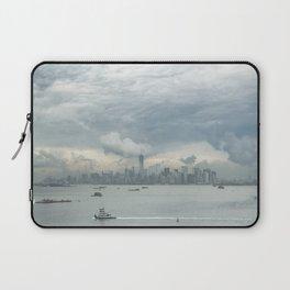 Cloudy New York Harbor Laptop Sleeve