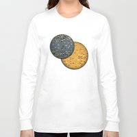 sun and moon Long Sleeve T-shirts featuring Sun &  Moon by Jonathan Knight