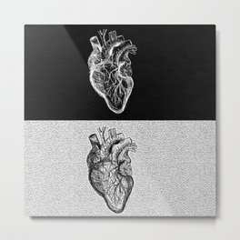 Two Sided Heart Metal Print
