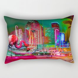 City Night Lights Rectangular Pillow