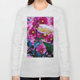 YELLOW ROSE GARDEN BEAUTY & PINK COSMOS Long Sleeve T-shirt