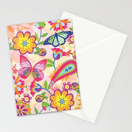 Butterflies and Fowers Stationery Cards
