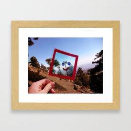 Nature Faces - Tree Waving Goodbye Framed Art Print
