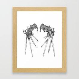Scissorhands (BnW) Framed Art Print