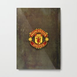 FC Manchester United metal background Metal Print